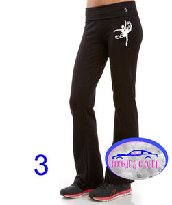 ***CLEARANCE*** Girls Soffee Yoga Pants Your Choice of Dancer