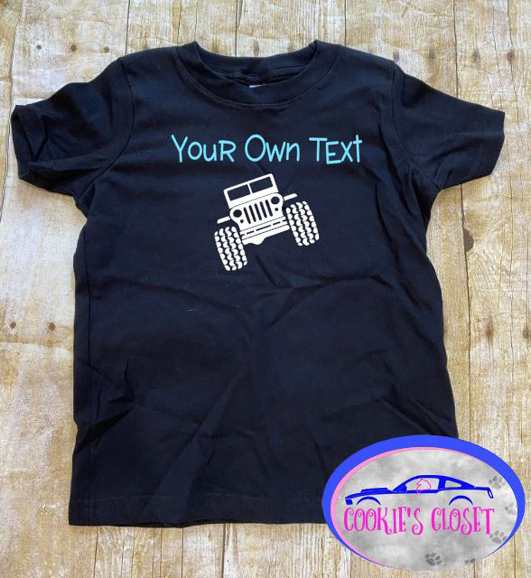 Your Own Text Wrangler Toddler Short or Long Sleeve T-Shirt