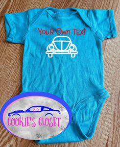 ***CLEARANCE***Forget The Carriage This Princess Rides in a (you choose) 6 Month Black Long Sleeve Infant Bodysuit
