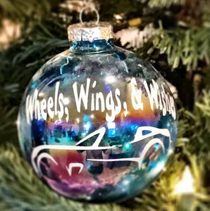 Wheels, Wings & Wishes Christmas Ornament