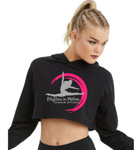 Rhythms in Motion Girls Long Sleeve Cropped Hoodie with 2020 Logo on the front