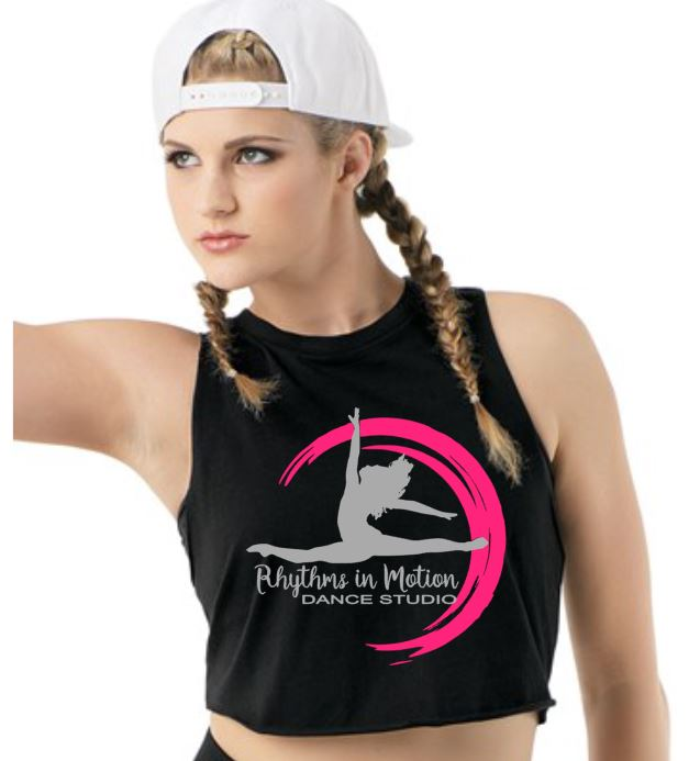 Rhythms in Motion Girls Sleeveless Crop Top with 2020 Logo on the front