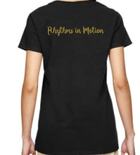 Load image into Gallery viewer, Rhythms in Motion Ladies V-Neck or Adult Unisex Dance Mom 2019 T Shirt