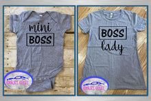 Load image into Gallery viewer, Boss Lady/Mini Boss Ladies Fitted T Shirt & Infant Bodysuit for Mother & Daughter