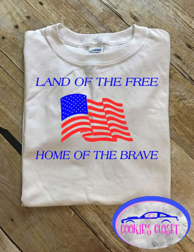 ***CLEARANCE*** Land of the Free Youth T Shirt
