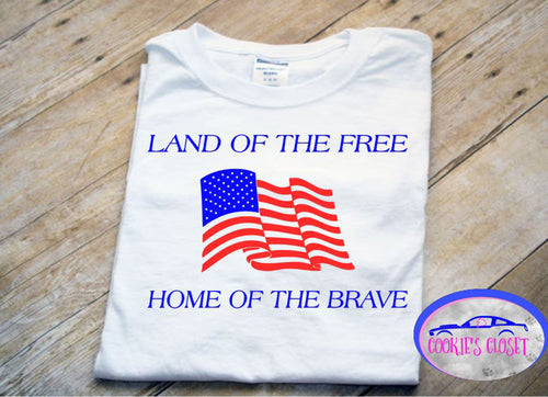 ***CLEARANCE*** Adult Land of the Free T Shirt