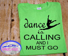 Load image into Gallery viewer, ***CLEARANCE*** Dance is Calling Youth Green T Shirts