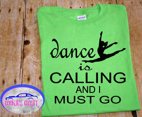 ***CLEARANCE*** Dance is Calling Youth Green T Shirts