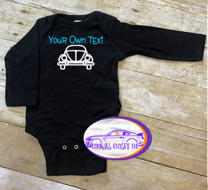Your Own Text Bug Infant Short or Long Sleeve Bodysuit