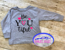 Load image into Gallery viewer, B You Ti Ful Toddler Short or Long Sleeve T-Shirt