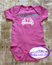 Load image into Gallery viewer, Your Own Text Bug Infant Short or Long Sleeve Bodysuit