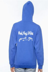 Wheels, Wings & Wishes Adult Pull Over Hoodie