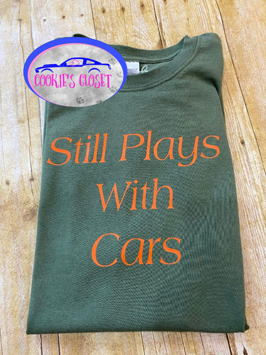 ****CLEARANCE**** Adult Green 2XL Still Plays with Cars Shirt