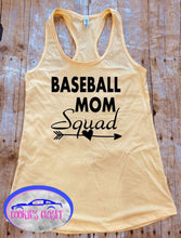 Load image into Gallery viewer, Baseball Mom Squad Ladies Raceback Tank Top