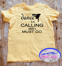 Load image into Gallery viewer, Dance is Calling Boy Toddler Short or Long Sleeve T-Shirt