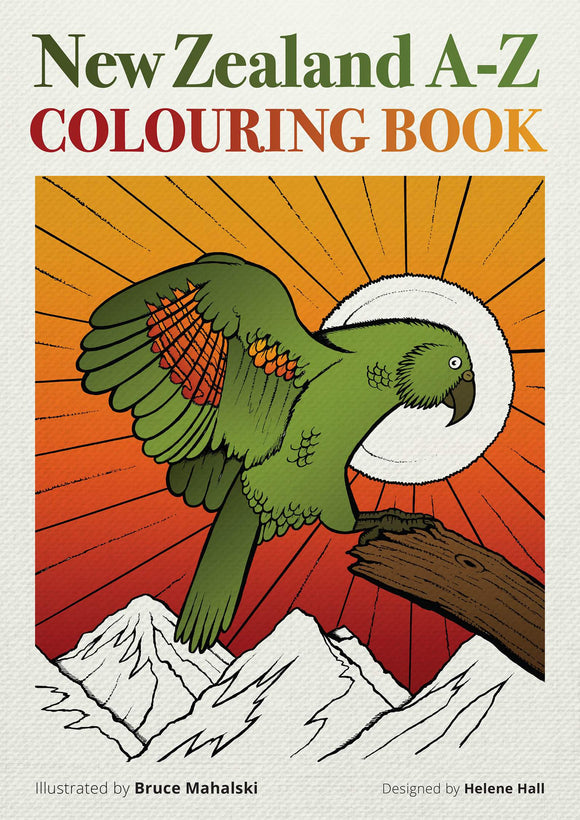 Kiwiana A-Z Colouring Book
