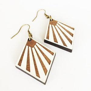 """Napier Deco"" Dangle Earrings"