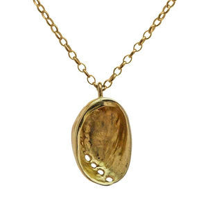 Baby Paua Pendant (Gold Plated)