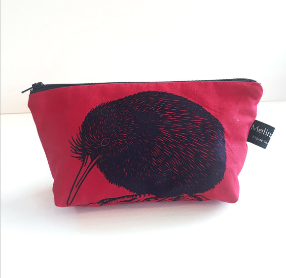 Kiwi Make Up Bag (Red)
