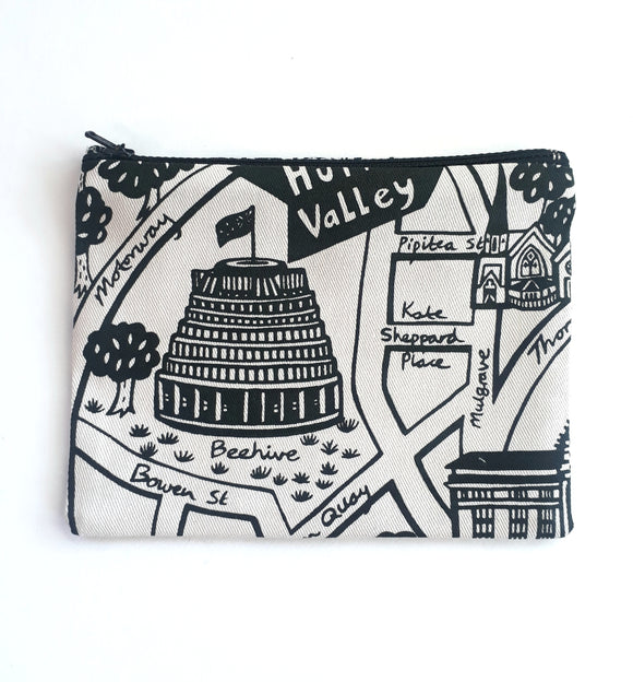 Wgtn Map Coin Purse