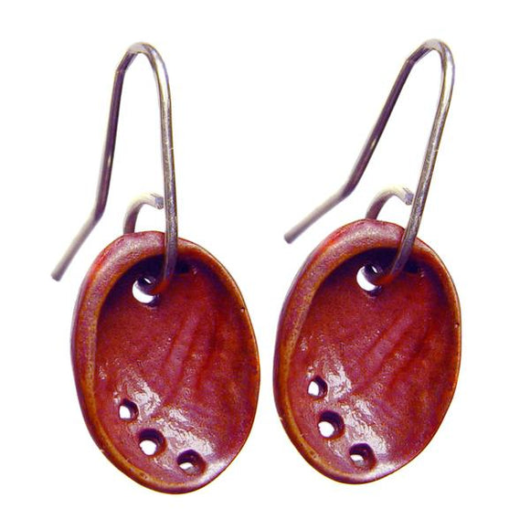 Baby Paua Earrings (Silver or Copper) -2 Sizes