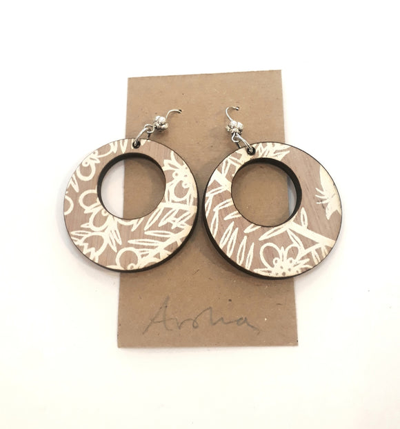 Wooden Manuka Earrings