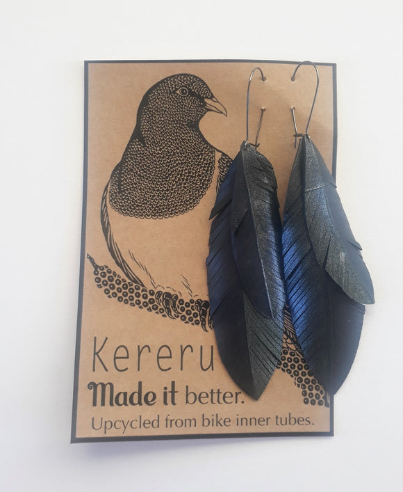 Kereru Upcycled Earrings