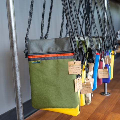 The Shop- Scioto Made Retail Location X-Over Bags