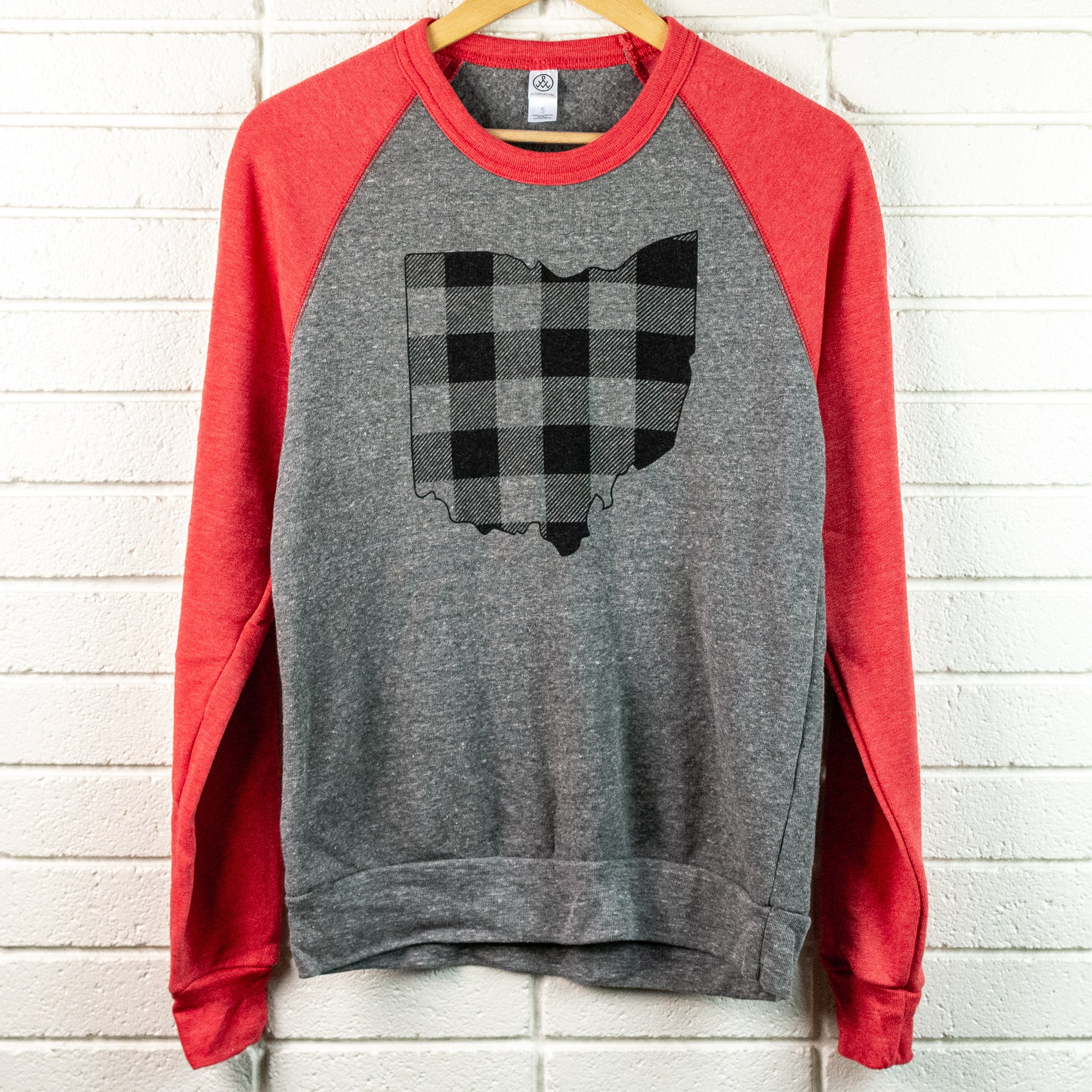 Ohio Plaid Crewneck Sweatshirt