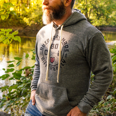 Ohio Outdoors Made Differently Triblend Pullover Hoodie