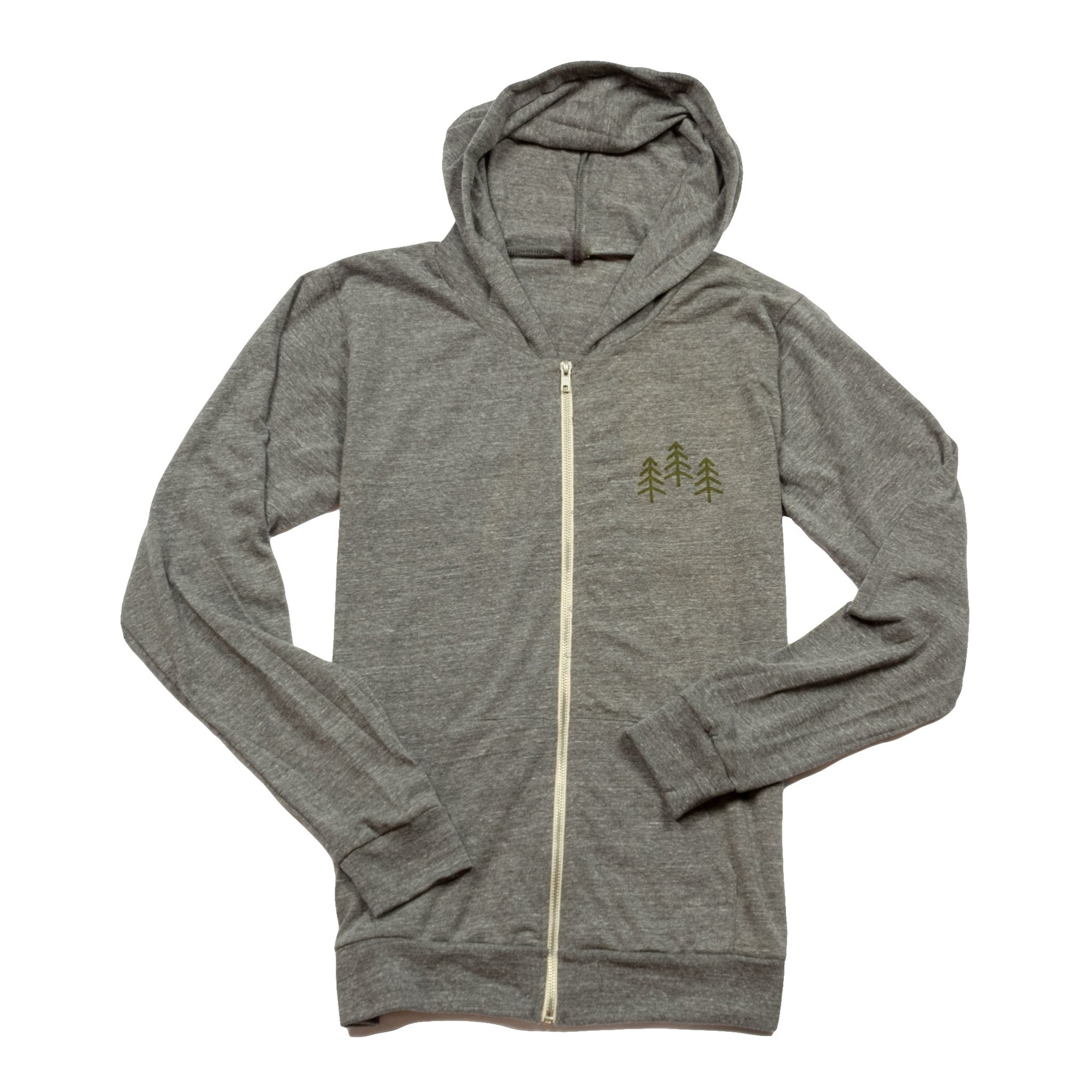 Men's 3 Trees Tri Jersey Full Zip Hoodie