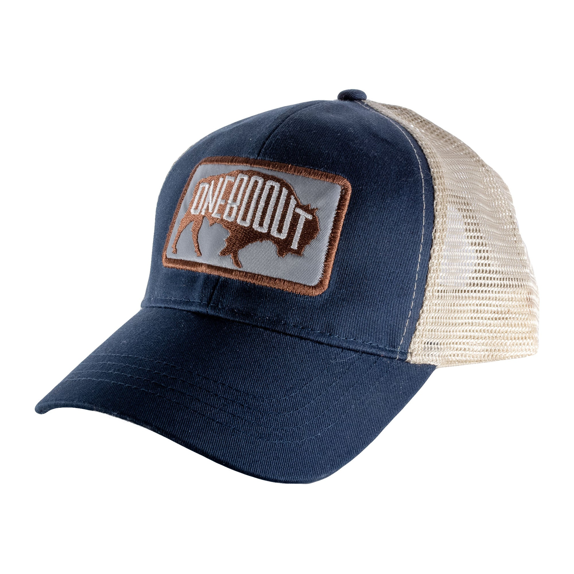 Bison Eco-Friendly Trucker Hat Navy