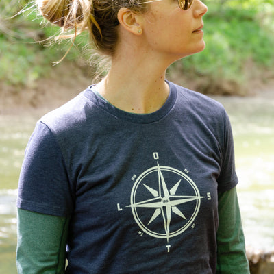 Women's LOST Compass Crew Neck T-Shirt