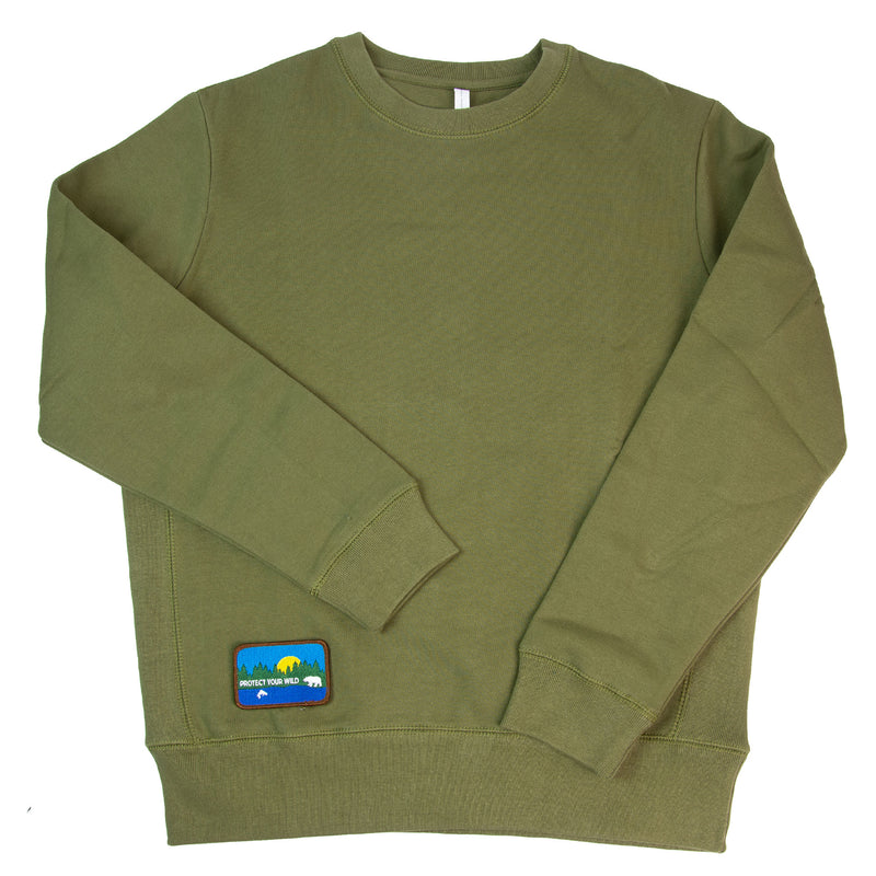 PROTECT YOUR WILD Organic Cotton Crew Neck Patch Sweatshirt
