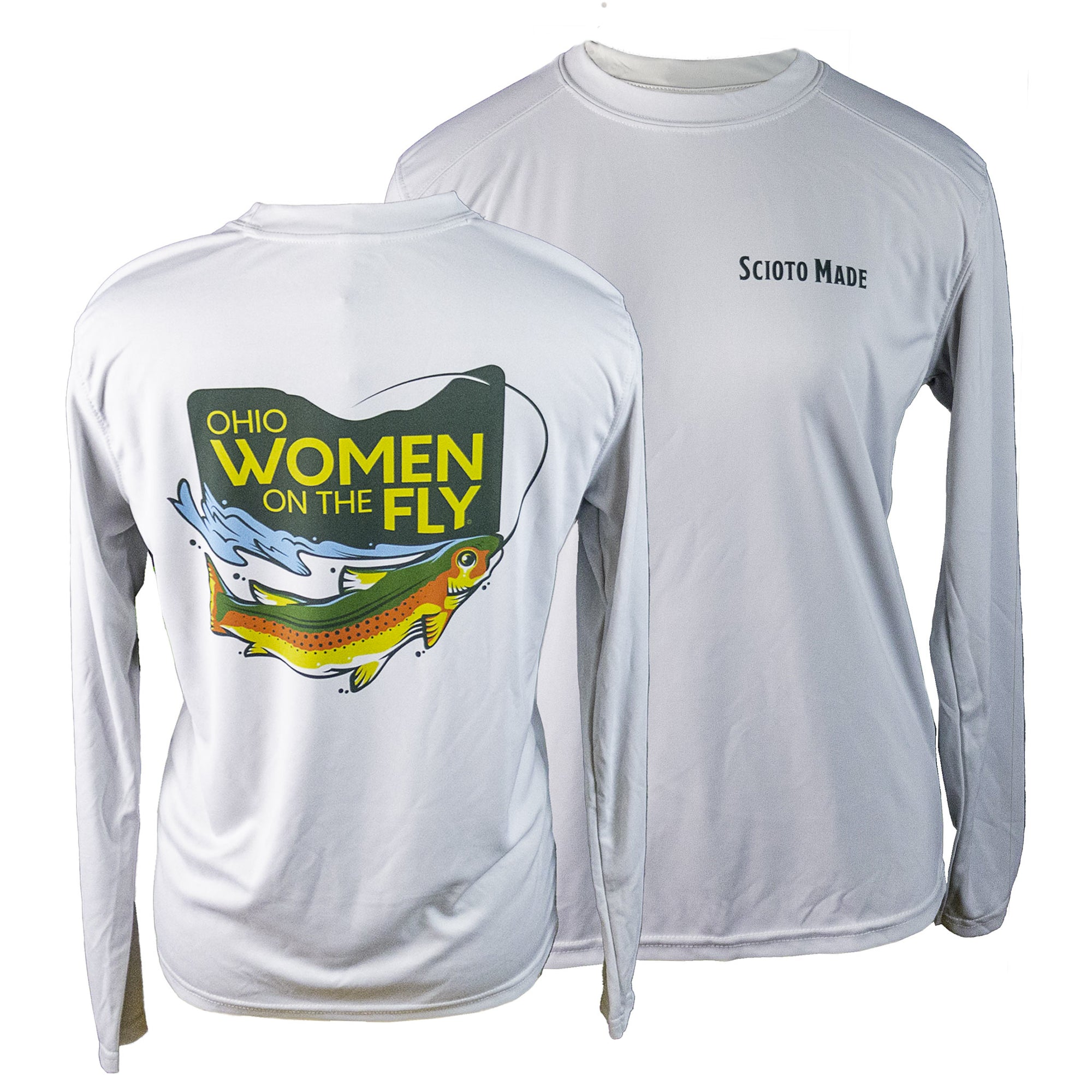 Ohio Women On The Fly Sun Shirt Pearl Grey