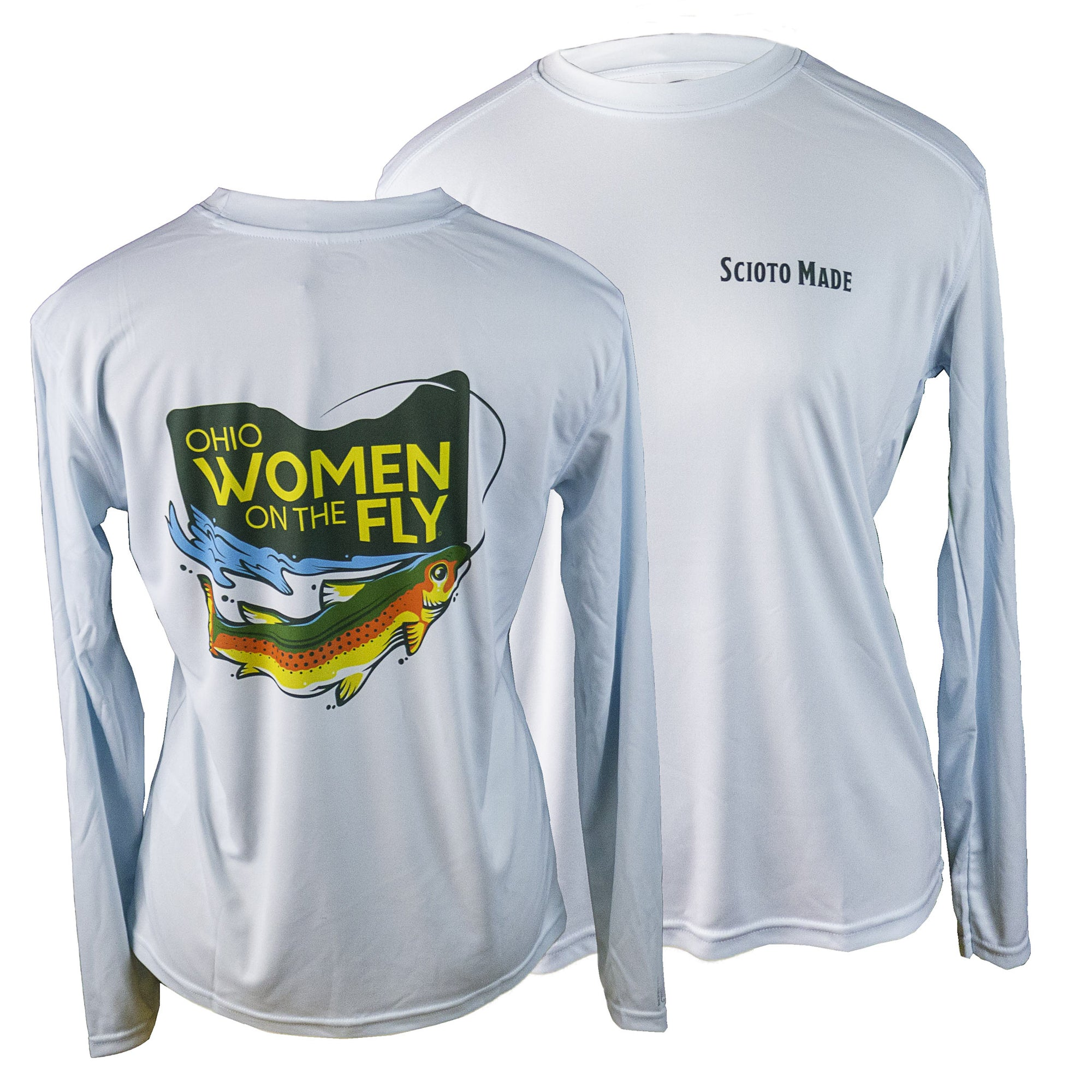 Ohio Women On The Fly Sun Shirt Artic Blue