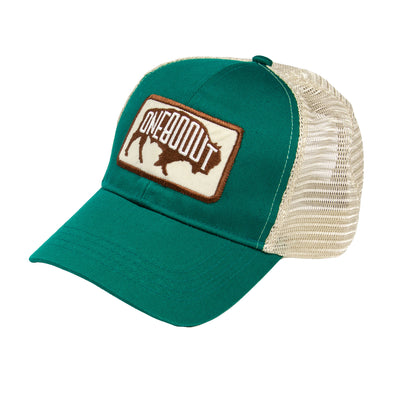 Bison Eco-Friendly Trucker Hat Teal