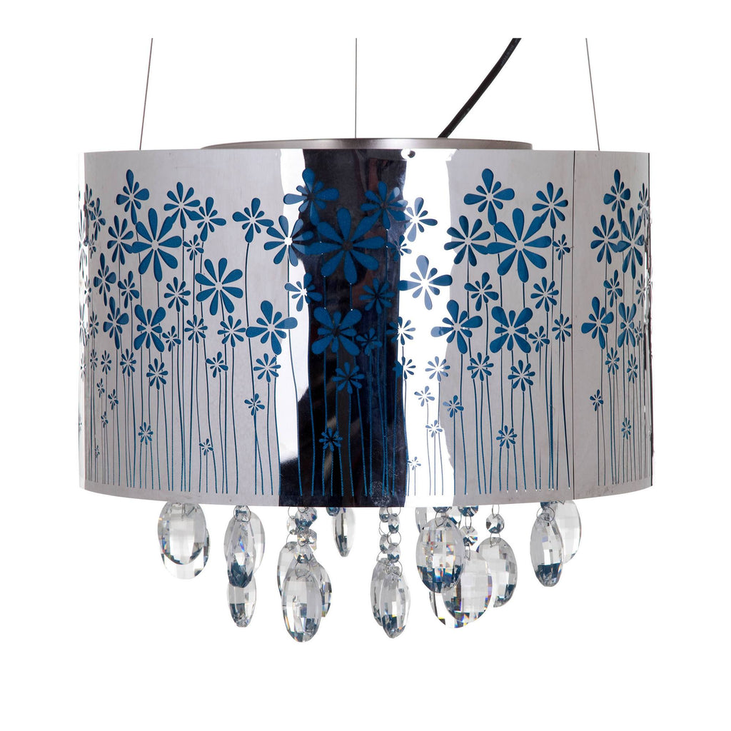 Plafondlamp FLOWERS WITH CRYSTALS - Ø 40 cm