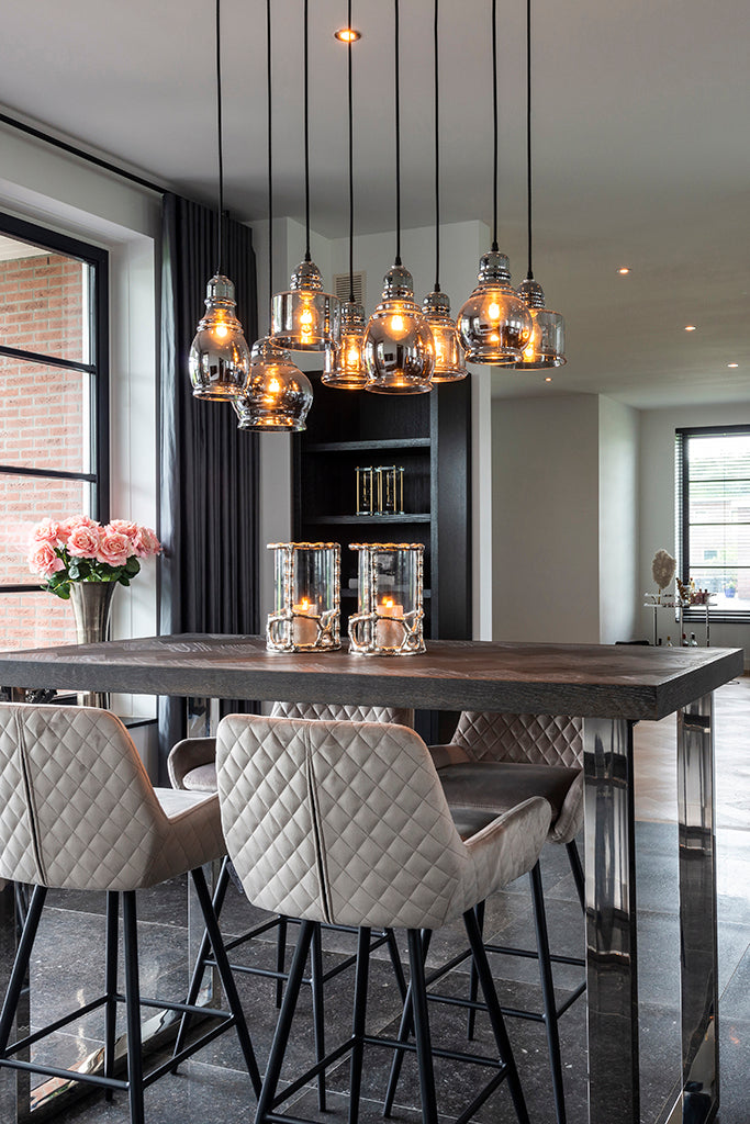 Zwarte Bartafel Blackbone 160 - Zilver | Richmond Interiors