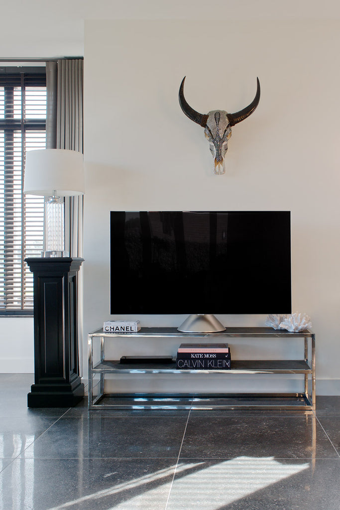 Eiken TV-dressoir Blackbone - Zilver | Richmond Interiors