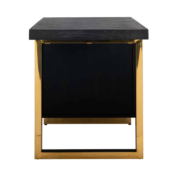 Eiken Bureau Blackbone 1-deur - Goud | Richmond Interiors