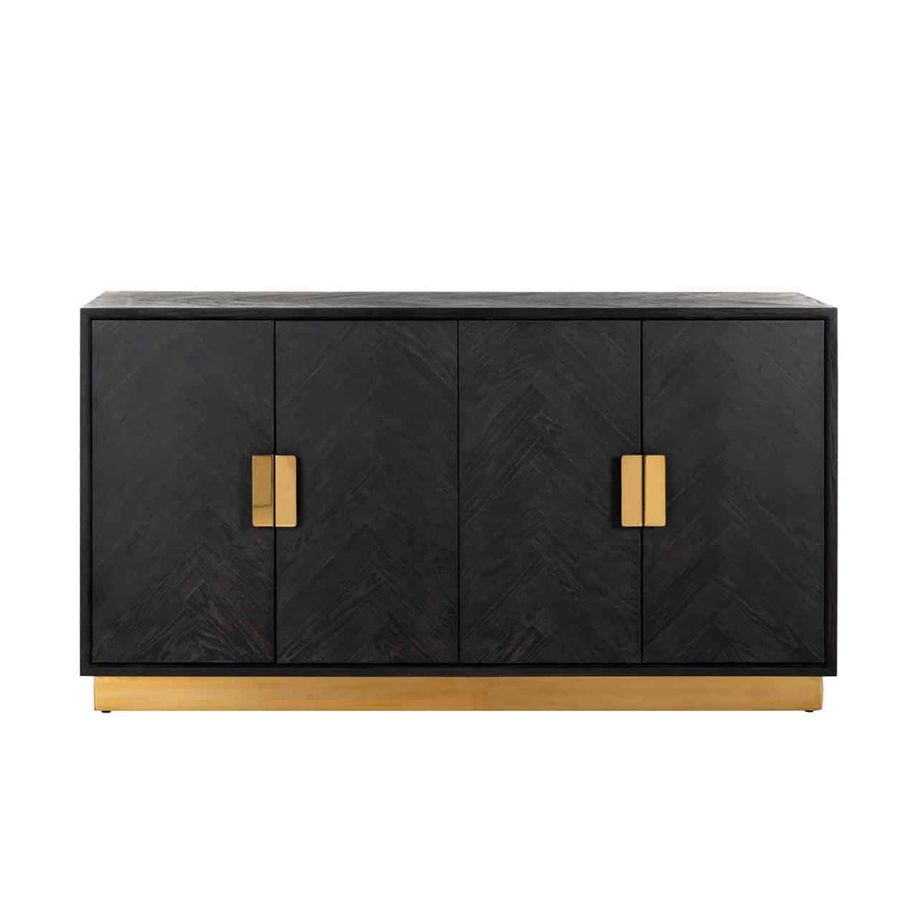Eiken Dressoir Blackbone 4-deuren - Goud | Richmond Interiors
