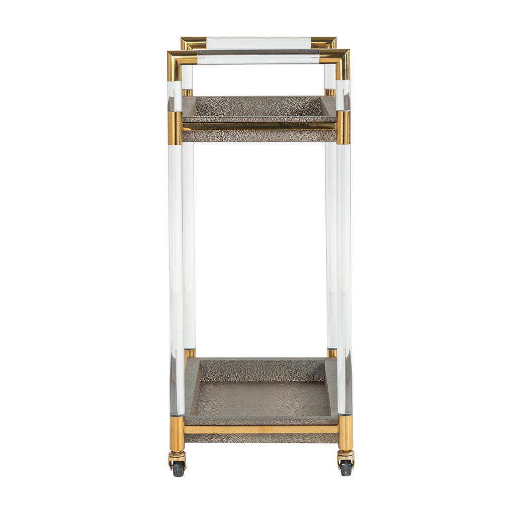 Luxe Trolley Calesta faux Faux Segrijn - Goud | Richmond Interiors