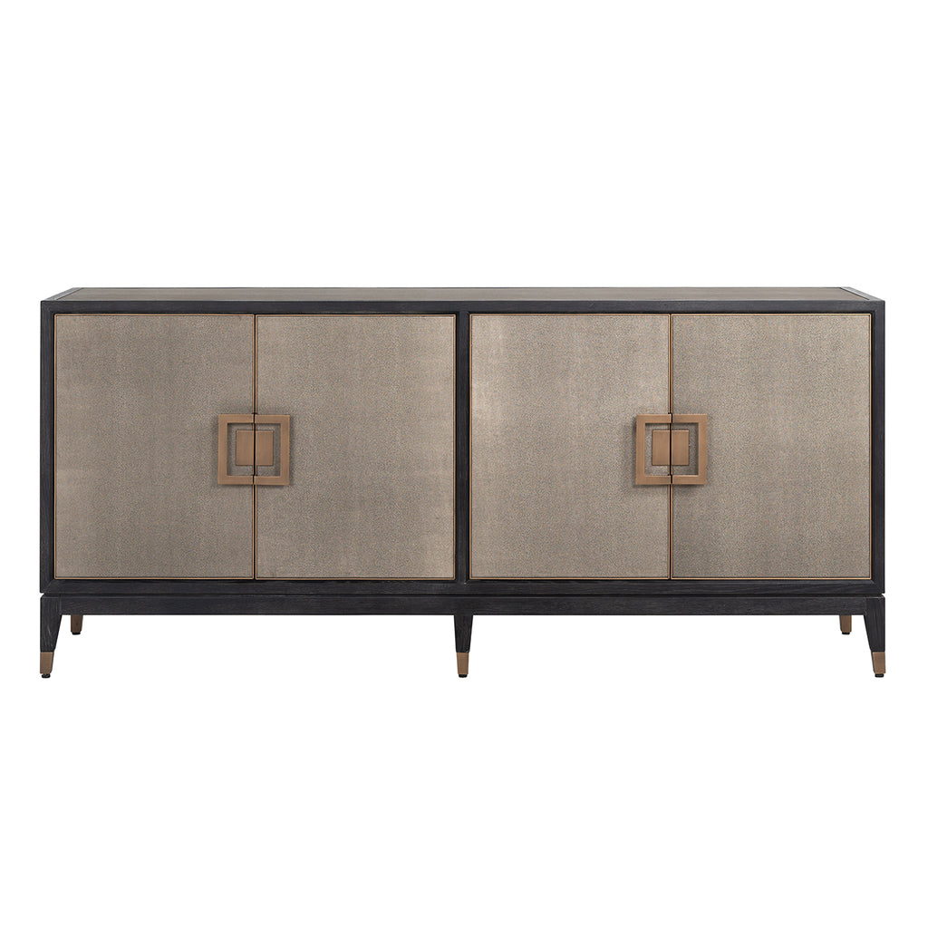 Chique Dressoir Bloomingville 4-deuren Faux Segrijn - Goud | Richmond Interiors
