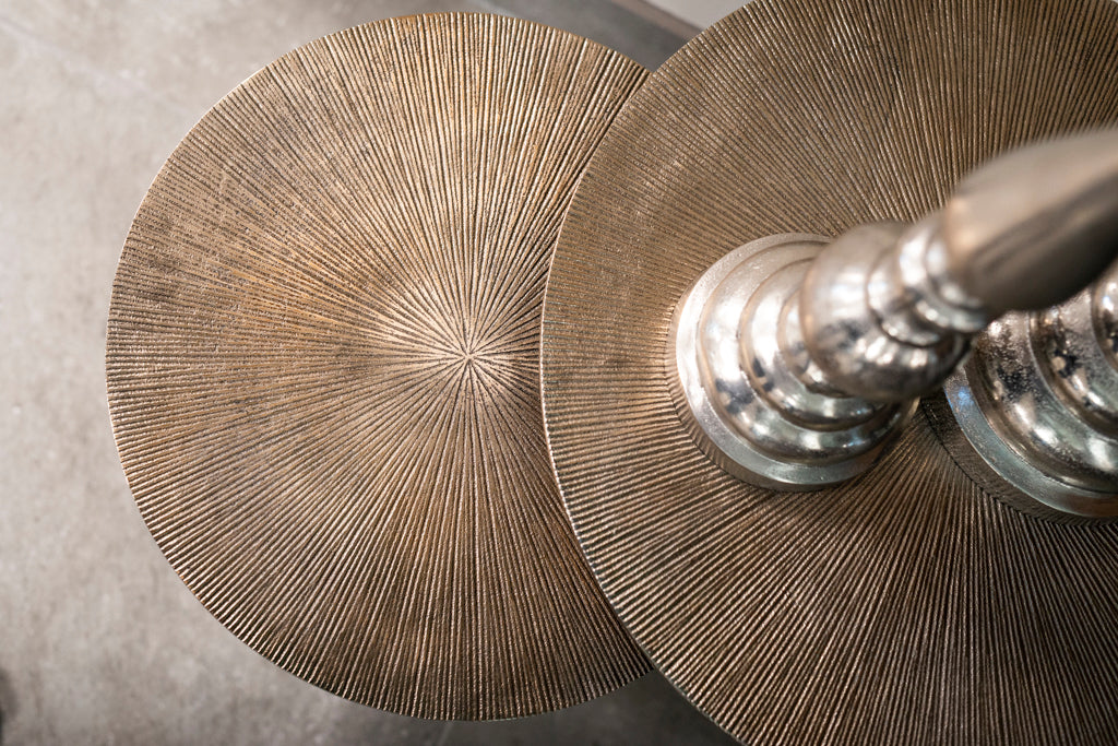 Aluminium Salontafel Vittorio - Set van 3 - Champagne gold | Richmond Interiors