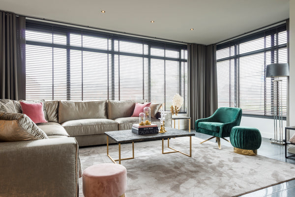 Ronde Poef Faye - Velours - Roze | Richmond Interiors