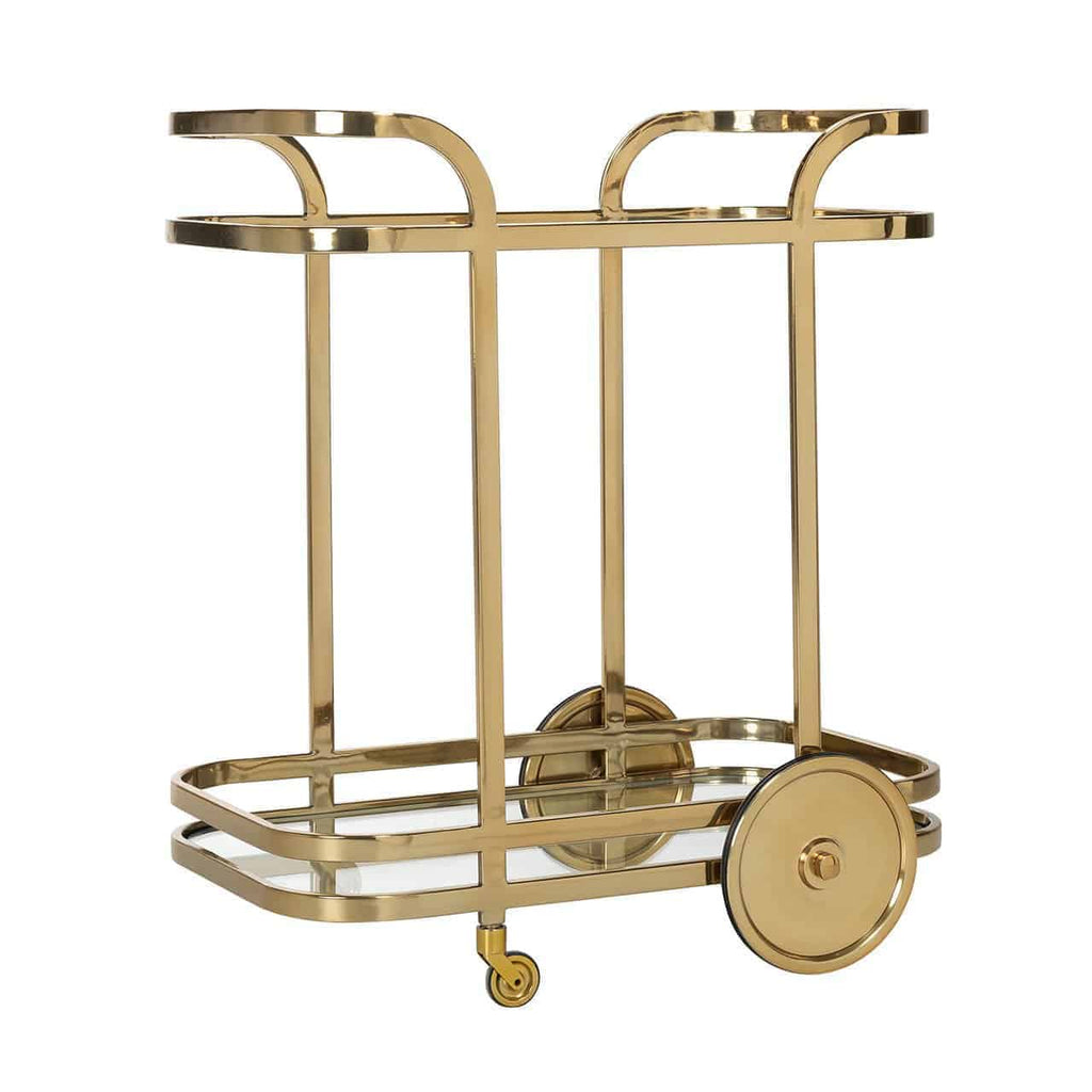 Luxe Trolley X.O. - Goud / Glas | Richmond Interiors