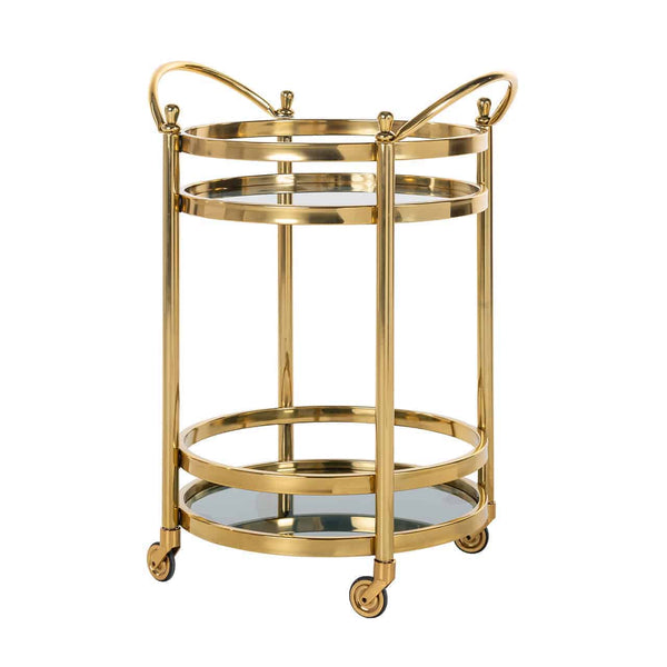 Luxe Trolley Hendricks rond - Goud/ Glas | Richmond Interiors