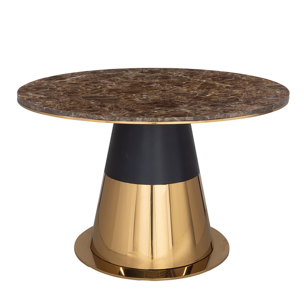 Ronde Eettafel Rollos 130 cm - Brushed Gold | Richmond Interiors