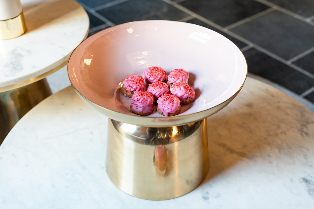 Ronde Bowl Jolyn - Roze/ Goud | Richmond Interiors